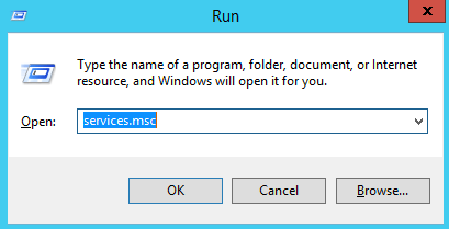 "Open ""run window"""