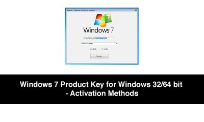 Windows 7 Product Key for Windows 3264 bit