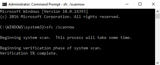 "type this command ""sfc/scannow"""