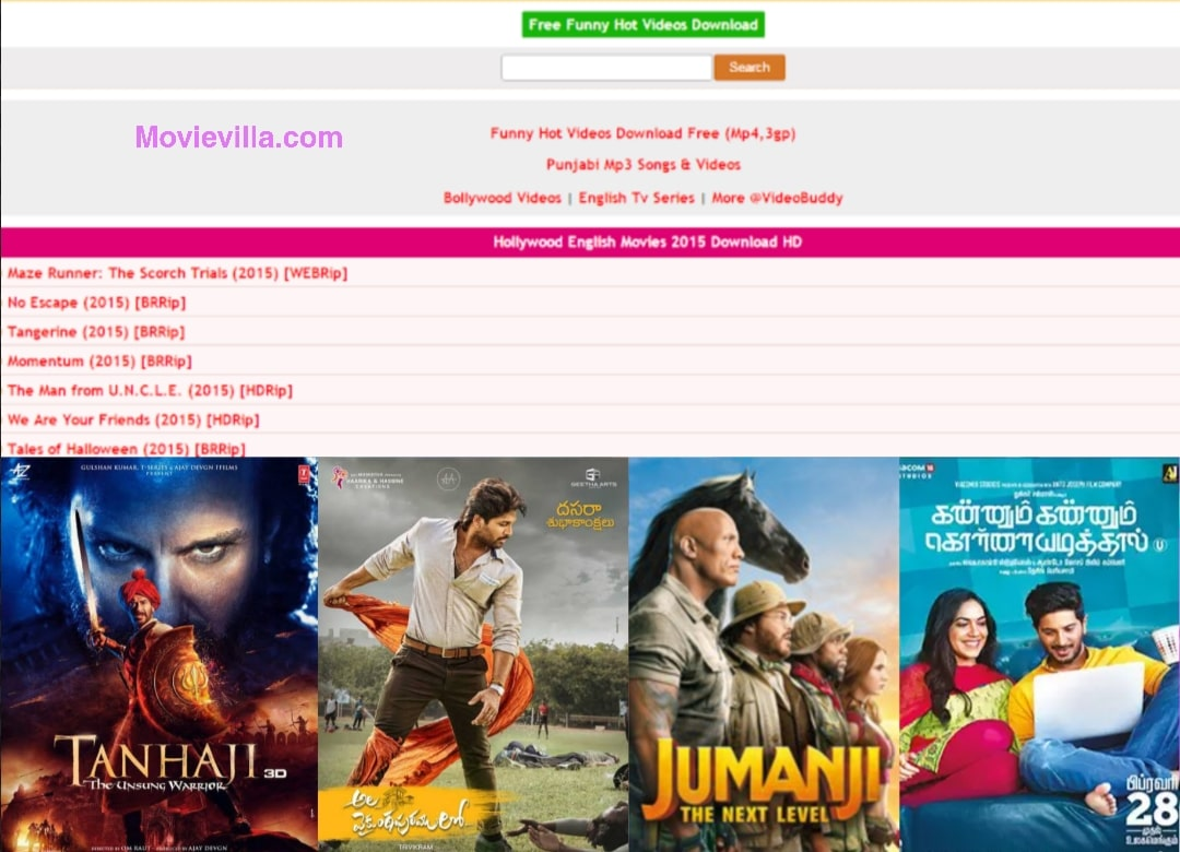 Movievilla 2020 Website: Download & Watch Bollywood, Hollywood & Tollywood  Movies