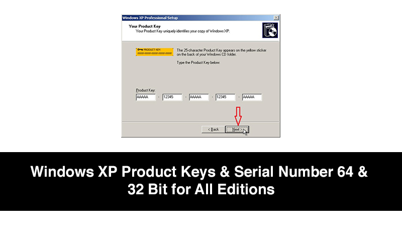 Windows XP Product Keys