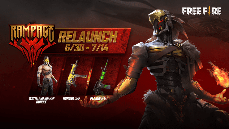 Free Fire Rampage Relaunch