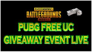 PUBG free UC giveaway
