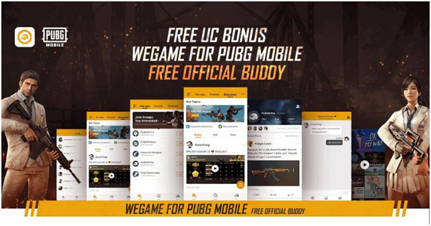 UC currencies in PUBG mobile gaming application