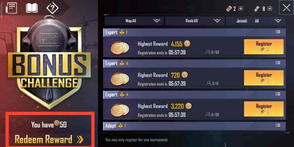 get the 7000 free UC currencies to your PUBG account