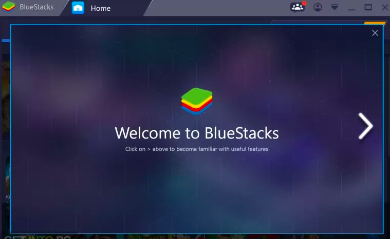 download Bluestacks on your system