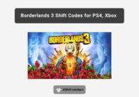 Borderlands 3 Shift Codes for PS4