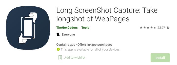 Long Screenshot Capture