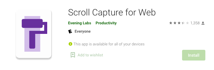 Scroll Capture for Web