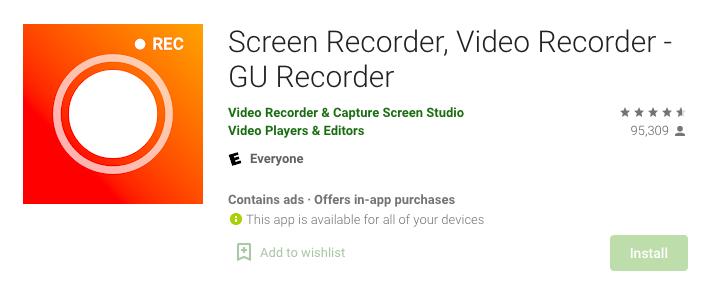GU Screen Recorder