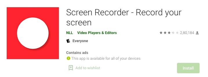 Screen Recorder NLL