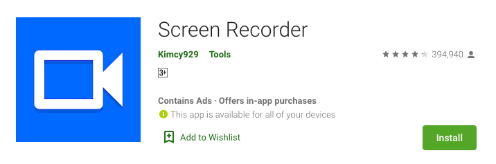 Screen Recorder by Kimcy929