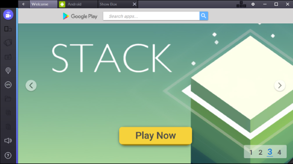 download and install the Bluestacks app