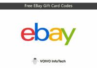 Free EBay Gift Card Codes