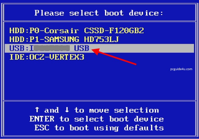 Insert the bootable drive