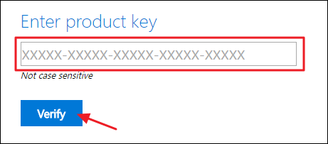 Product Key is verified