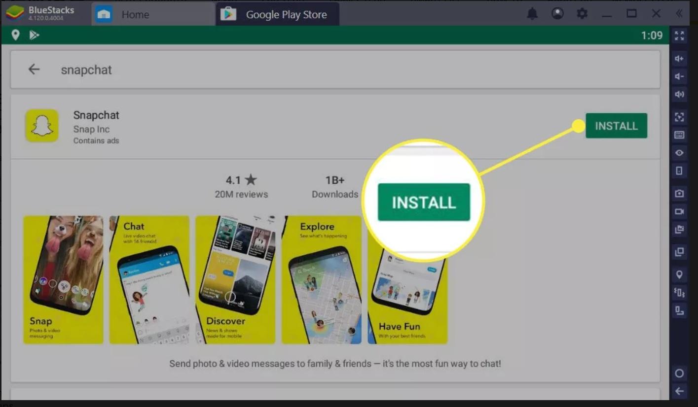 install the app