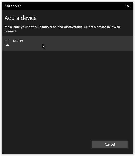 add a device popup
